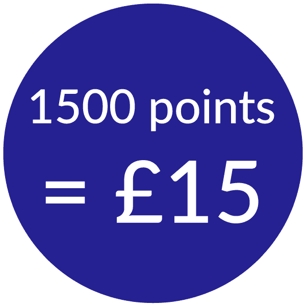 talk home exchange 1500 points for £15