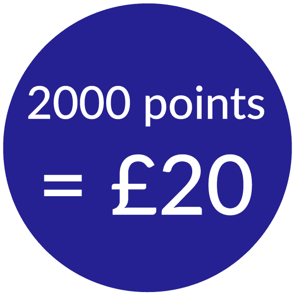 talk home exchange 2000 points for £20